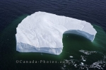 An aerial of the unique formation of this iceberg in the Strait of Belle Isle in Southern Labrador, Canada.