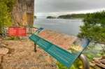 Photo: Agawa Rock Pictographs Information Sign Lake Superior