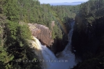 The Aguasabon Gorge in Terrace Bay close to Lake Superior in Ontario Canada.