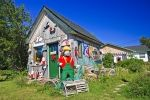 In the town of Pleasant Bay in Cape Breton, Nova Scotia you can buy some unique gifts at the Timmon's Folk Art Store.
