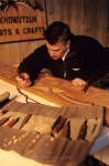 Wood Carver artist at work, Quw'utsun Cultural Centre, Duncan, Vancouver Island, British Columbia, Canada, North America.