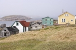 Along the waterfront of Battle Harbour in Southern Labrador, Canada, many of the historic houses and old fishing stages remain in their original condition from 1775.