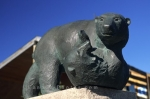 The symbol of Churchill are polar bears as shown with this statue in Manitoba, Canada.