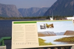 Photo: Boat Dock Sign Western Brook Pond
