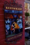 Photo: Cafe Restaurant Sign Quartier Petite Champlain Quebec