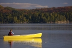 Photo: Canoe Paddling Rock Lake Ontario