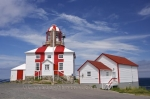 The historic buildings and Cape Bonavista Lighthouse along the Discovery Trail in Newfoundland, Canada.