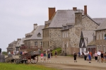 An interesting tourist attraction in Cape Breton, Nova Scotia is the Fortress of Louisbourg.