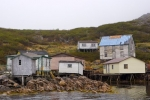 Along the waterfront of Cape Charles in Southern Labrador, Canada you will find some old and new fishing stages and houses.
