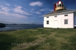 The Cape Spear lighthouse sits at the most easterly point of land in North America near St. Johns, Newfoundland, Canada.