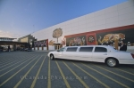 A limousine sits outside the casino in Orillia, Ontario waiting for passengers that will come out with either smiles from winning or frowns from losing.