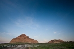 Photo: Castle Butte Sunset Tourist Attraction Big Muddy Badlands Saskatchewan