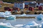 In Conche Harbour along the Northern Peninsula in Newfoundland, winter brings in the pack ice that keeps the residents ashore until it thaws.