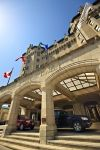 The grand entrance of the Fairmont Chauteau Laurier Hotel in downtown Ottawa.
