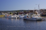In the town of Cheticamp, fishing boats line the harbour that looks out over the Gulf of St. Lawrence along the Cabot Trail in Cape Breton, Nova Scotia.
