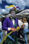 A clown is one of the many entertainers you will see at the Ottawa International Buskers Festival in Ontario, Canada.