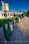 A colorful sign marks the entrance to the Manitoba Children's Museum at The Forks in the City of Winnipeg in Manitoba, Canada.
