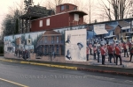 Colourful murals in Chemainus on Vancouver Island, British Columbia, Canada.