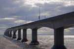 A very well used crossing between PEI and New Brunswick, Canada is the Confederation Bridge.