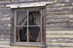 Photo: Cottage Window Battle Harbour Labrador