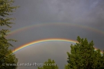 Photo: Double Rainbow Prairie Thunderstorm Regina City Saskatchewan