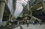 A small section of the massive shopping complex known as Eaton Centre in Toronto, Ontario.