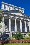 A historical building known as the Edifice Lucien-Saulnier in Old Montreal, Quebec was once home to the Old Courthouse.