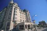The elegant building design of the Fairmont Chateau Laurier located in a main tourist area in Ottawa, Ontario in Canada.