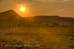 Photo: Farmland Sunset Scenery Big Muddy Badlands Southern Saskatchewan