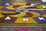 The Niagara Parks Floral Clock in Queenston, Ontario in Canada comes to life in an array of colors as the blossoming flowers enjoy the spring time weather.