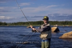 Photo: Fly Fishing Casting Salmon River Newfoundland