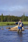Photo: Fly Fishing Knee Deep Salmon River Main Brook Newfoundland