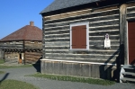 Buildings at Fort Ingall in Cabano, Quebec, Canada.