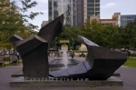 Photo: Fountain Sculpture Square Victoria Montreal
