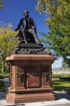 In a park beside the Porte Saint-Louis in Quebec City, Canada is a statue of Francois Xavier Garneau who was a French Canadian poet, civil servant and liberal in the nineteenth century.