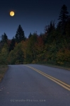 Photo: Full Fall Moon La Mauricie National Park Quebec