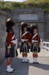 The guards at the Halifax Citadel National Historic Site in Nova Scotia, Canada performing the Changing of the Guard.