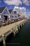 The waterfront in the harbour of Halifax, Nova Scotia is the ideal place to enjoy a meal at any of the variety of restaurants.
