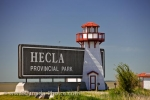 Photo: Hecla Provincial Park Sign Lake Winnipeg Manitoba