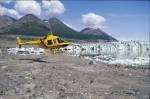 A helicopter tour is the ideal way to see Kaskawulsh Glacier in Kluane National Park in the Yukon, Canada.