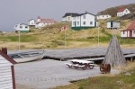 Photo: Historic Cod Fishery Buildings Battle Harbour Southern Labrador