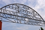 Before entering the Historic Garrison District in Fredericton, New Brunswick an intricate sign marks the entranceway.
