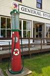 Photo of Gas Pump outside the General Store in the Mennonite Heritage Village, Steinbach, Manitoba, Canada.