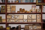 The shelves in the general store are stocked with supplies in the historic Sherbrooke Village Museum in the town of Sherbrooke, Nova Scotia.