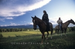 Horseriding in Blaeberry Valley in Golden, BC offered as a holiday programme by the Goldenwood Lodge.