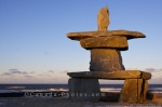 Photo: Hudson Bay Beach Sunset Inukshuk Churchill Manitoba