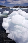 A large piece of pack ice resembles that of an ice mountain along the shores of St Anthony in Newfoundland, Canada.