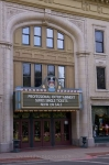 The entrance to the Imperial Theatre in the downtown core of Saint John, New Brunswick shows the history of the building.