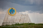 Photo: Oak Hammock Marsh Interpretative Centre Entrance Sign Manitoba