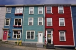Each of these attached homes are painted in their own hues decorating the street in the downtown area of St. Johns, Newfoundland, many know this area as Jelly Bean Row.